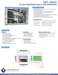10.4 inch high bright industrial display monitor datasheet