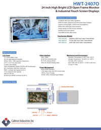 24 inch enhanced brightness industrial display monitor datasheet