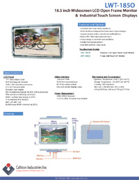 18.5 inch lcd industrial display monitor datasheet