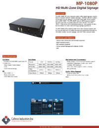 high-def network digital signage media player datasheet