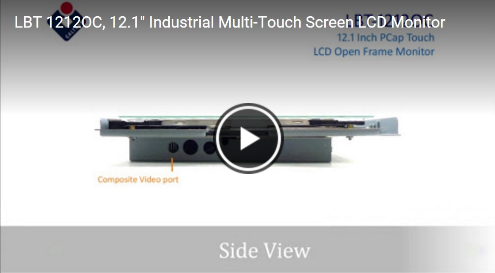 12 Inch Multi-Touch Industrial Open Frame Touch Screen Monitor