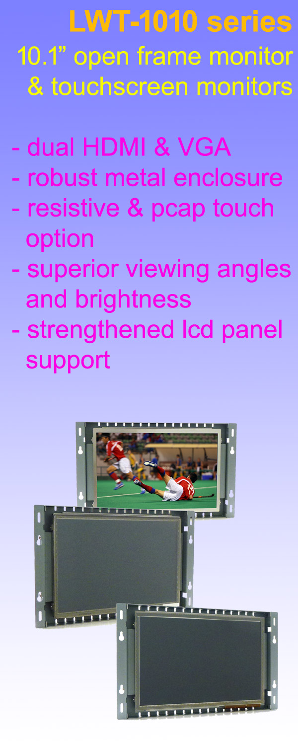 10.1 Inch LCD Industrial Touch Screen Monitor