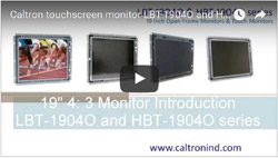 19 inch industrial display monitor