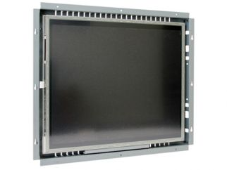 19-in resistive industrial touch screen display monitor front view