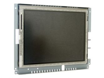 12-in resistive industrial touch screen display monitor front view
