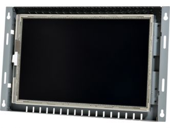 12-in widescreen Resistive industrial touch screen display monitor front view