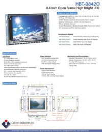 8.4 inch high bright industrial display monitor datasheet