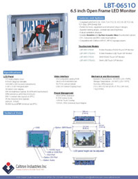 6 inch lcd industrial display monitor datasheet