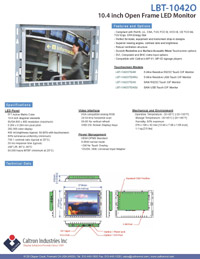 10.4 inch led lcd industrial display monitor datasheet