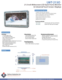 21.5(22) inch lcd industrial display monitor datasheet