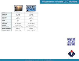 high bright widescreen industrial display monitor datasheet