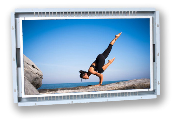 24 inch sunlight readable LCD touch screen open frame monitor