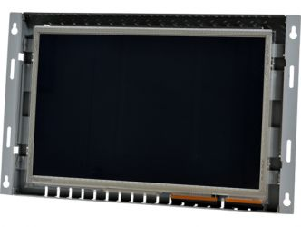 12-in widescreen PCAP industrial touch screen display monitor front view