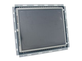 17-in resistive industrial touch screen display monitor front view
