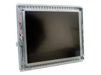 15-in SAW industrial touch screen display monitor front view